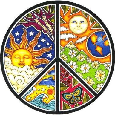 Peace Window (Dan Morris - Peace - Window Sticker / Decal)