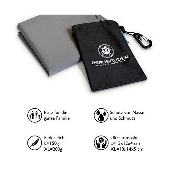 51Nw8R1OWDL BERGBRUDER Nylon Picknickdecke im Hosentaschenformat - Wasserdicht, Ultraleicht & kompakt - Ground Sheet, Pocket Blanket…