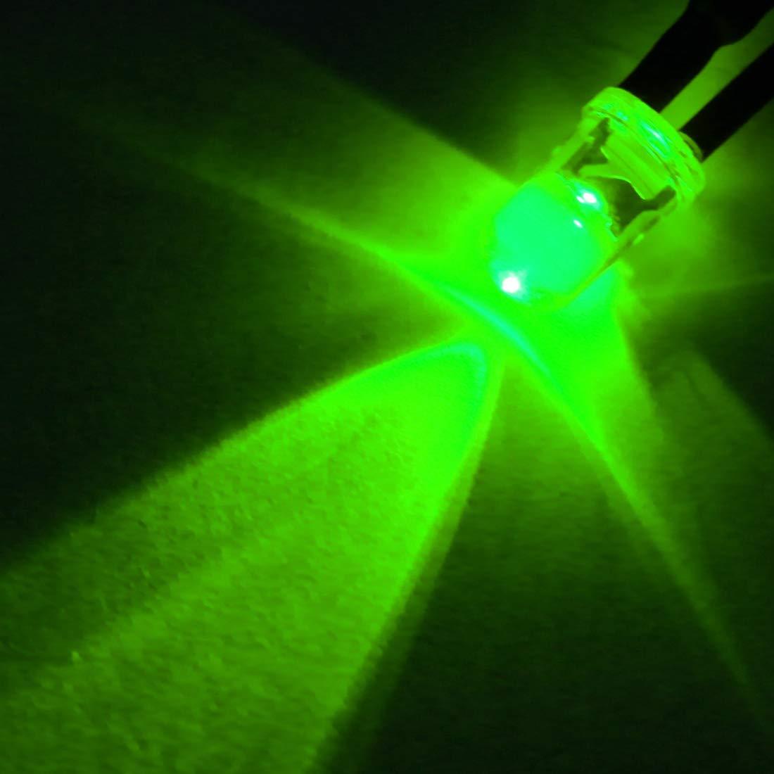 Light Emitting Diodes sourcing map 3Pcs 3mm Pre Wired LED Blue DC3-5V Clear Lens
