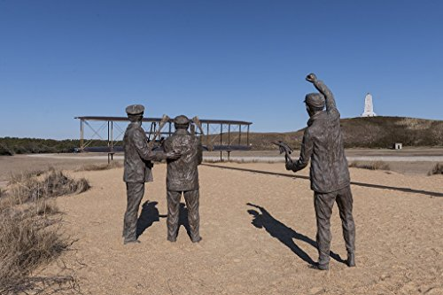 Memorial Brothers Flight First Wright (historic pictoric Photograph| Part of a Tableau of Bronze Statues Depicting The First Successful, sustained, Power Flight of a Heavier-Than-air Machine 3 Fine Art Photo Reproduction 36in x 24in)