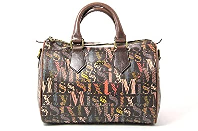 ca87fe252 Miss Sixty Women's A01225-XF9117 Top-Handle Bag Brown Size: 31x36x18 ...