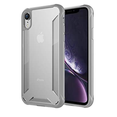 ORETECH Funda iPhone XR, Carcasa Funda iPhone XR con [Tecnología de cojín de Aire] Gel Suave Silicona TPU y PC Duro + Mat Funda para iPhone XR-Gris