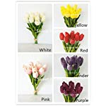 Sweet-Home-Deco-Latex-Real-Touch-13-Artificial-Tulip-10-Stems-Flower-Bouquet-for-HomeWedding-Yellow
