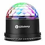 Disco Light, GLISTENY Magic Party Lamp Mini Stage Lights Sound Activated Colorful Rotating Ball Crystal 48LED For Wedding Show KTV Bar DJ Ballroom Home Club Pub