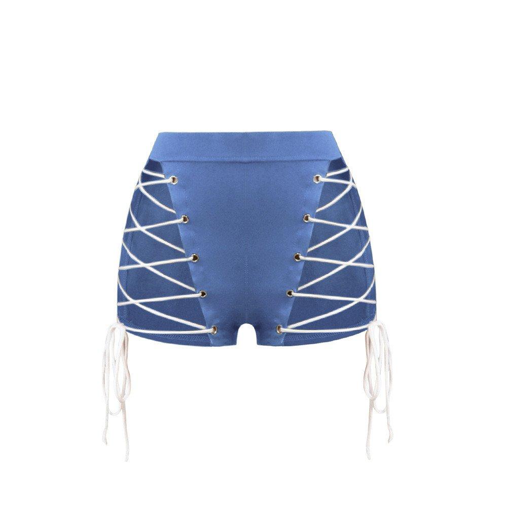 Ropa Transparente Net Corbata Shorts y Pantalones Cortos,Azul L ...