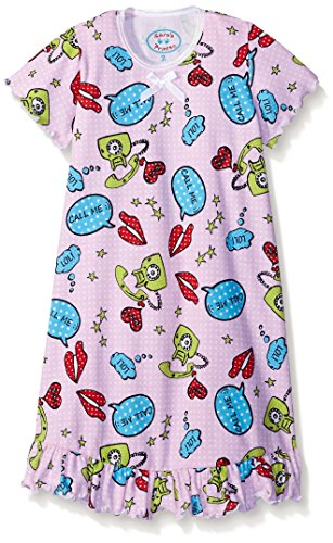 Saras Prints Girls Sleeve Nightgown