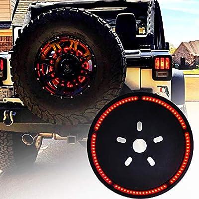 Omotor for Jeep Wrangler Spare Tire Brake Light Wheel Light 3rd Third Brake Light for 1987-2020 Jeep Wrangler JL JLU JK JKU YJ TJ/LJ: Automotive