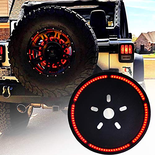 OMOTOR Tire Brake Light 3rd Third for 2007-2018 Jeep Wrangler JK /1987-2018 Jeep Wrangler YJ TJ/LJ YJ (wiring required on some - Light Jeep Brake