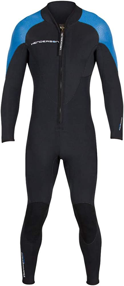 Henderson Men's Thermoprene Pro Wetsuit 3mm Front Zip Fullsuit Black/Blue