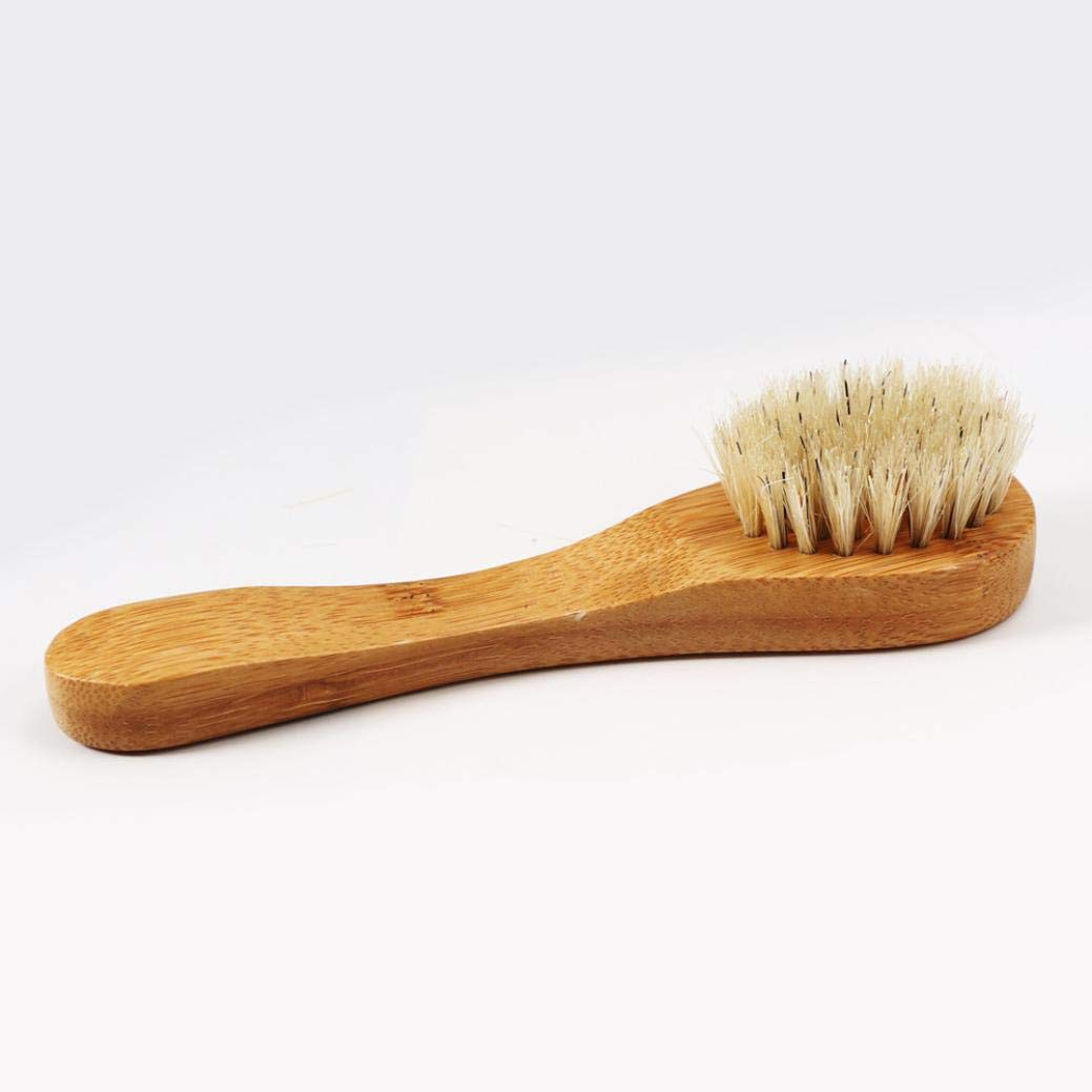 Dry Brushing Body Brush, Bamboo Natural Boar Bristles for Lymphatic Drainage, Skin Exfoliation - Cellulite Massager, Long & Contoured Brush, Lava Pumice Stone Gift, How to Guide Glowing Skin (Yellow) by DICPOLIA Beauty (Image #1)