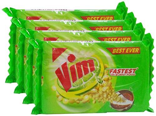 Vim Dishwash Bar, 80g  Pack Of 4  Promo Pack