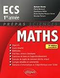 Mathématiques ECS 1re année - 3e édition actualisée