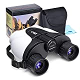 Kids Binoculars, Cobiz 10×25 Outdoor Binoculars for Kids, Folding Spotting Telescope For Bird Watching, Camping and Hunting ,Best Christmas Gift For Boys,Girls (white)