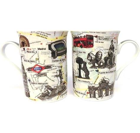 ZINGS Set de Dos Tazas Mug de Madrid: Amazon.es: Hogar