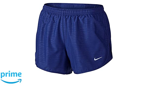 fcac771cb416d Nike Women's Dri-Fit Modern Embossed Tempo Running Shorts-Deep Royal  Blue-Large