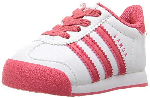 Adidas Originals Girls' Samoa I Sneaker, White/Core Pink/White, 8 M US Toddler