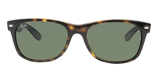 078cf1d8de Image Unavailable. Image not available for. Color  Ray-Ban RB2132 Large New  Wayfarer Polarized Sunglasses Shiny Havana ...