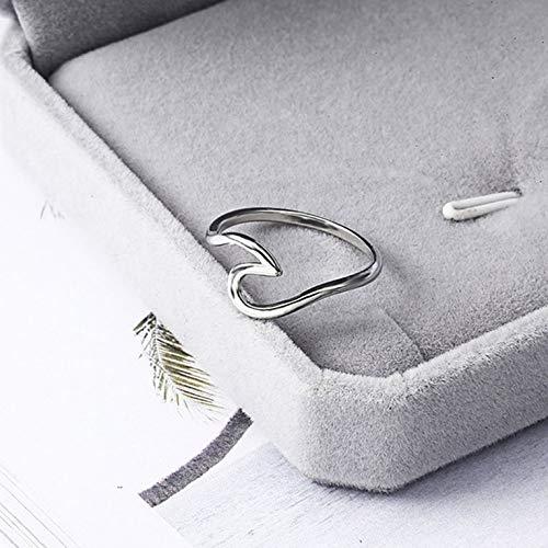 Vague Alliage Argent Anneaux De Charme Bague De Mariage Anneaux Pour Femmes Bijoux De Mode Simple Bijoux En Argent Accessoires Argent 16