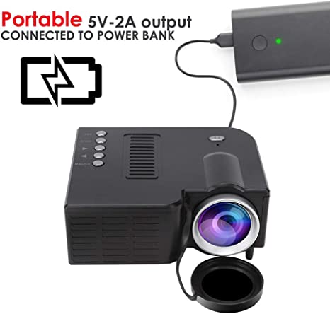Mini proyector, proyector de video, LED LCD Full HD 1080P ...