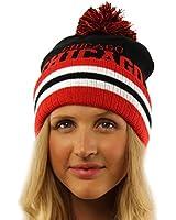 Unisex Team Sport 2ply Chunky Stretchy Knit Beanie Ski Hat Cap