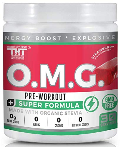 OMG Preworkout Drink for Men and Women-Scientifically Crafted to Help Boost Energy,Stamina,Mental Clarity,Focus and Performance (30 Ser, Strawberry Jolly Rancher) (Best Female Pre Workout)