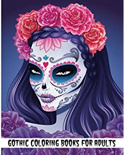Gothic Coloring Books For Adults Day Of The Dead Book