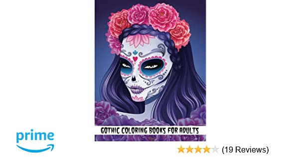 Gothic Coloring Pages For Adults : Amazon gothic coloring books for adults day of the dead