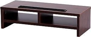 Penck Monitor Stands Universal Wood Speaker TV PC Laptop Computer Screen Riser Desk Organizer 19.6 inch with Shelf