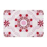 KESS InHouse Anneline Sophia ''Let's Dance Red'' Pink Floral Memory Foam Bath Mat, 24'' x 36''