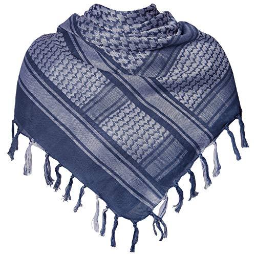 Military Shemagh Tactical Desert 100% Cotton Keffiyeh Scarf Wrap (M-dark blue)