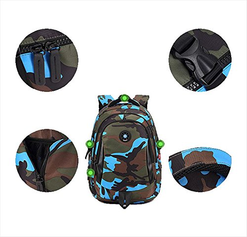 Camouflage Backpack, Large Capacity Water-Resistant Student Children School Bag by MATMO (Image #1)