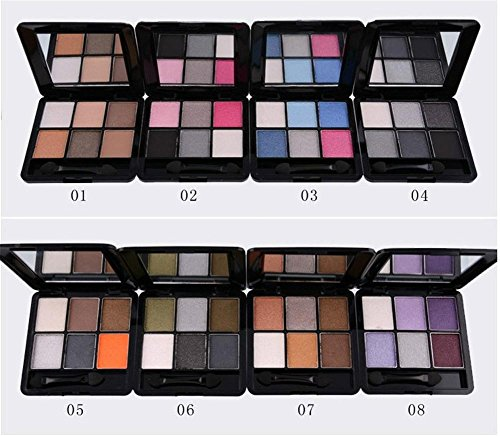 6 color eyeshadow beauty makeup make-up lasting color not blooming , 04 gothic smoke