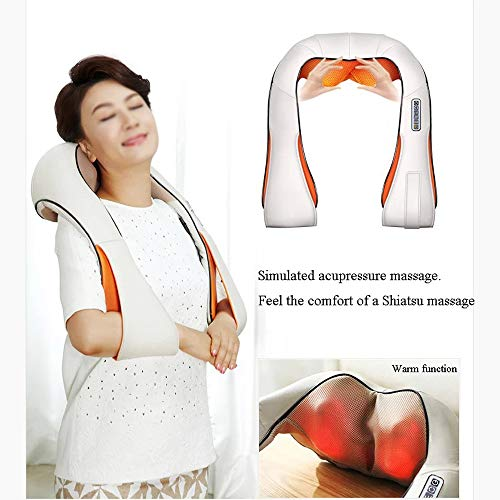 GAOQQ Shiatsu Back Neck and Shoulder Massager with Heat, Cervical Spine Kneading Multi-Function Massager for Office Home Car Use by GAOQQ (Image #4)