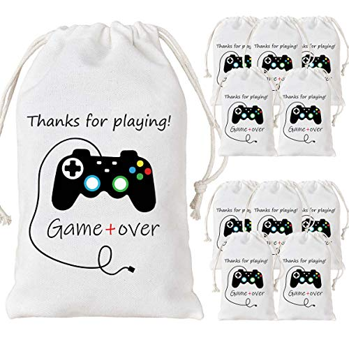 12 Pack Video Game Party Bags Gaming Party Favor Bags...