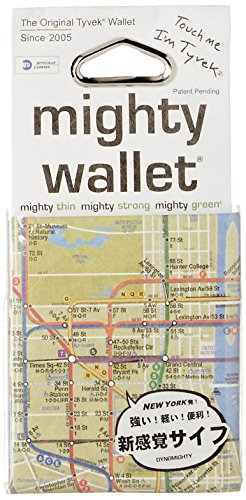 Mighty Wallet Men's Ultra Thin Strong Tyvek Wallet by Dynomighty - NYC Subway Map