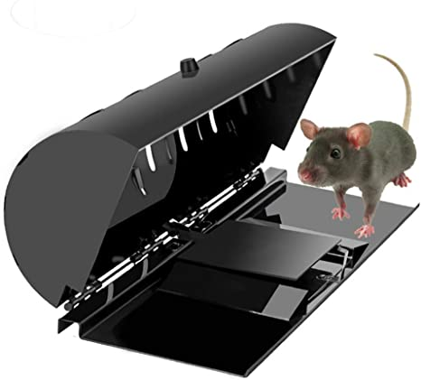 Fimax Electric Rat Trap Killer 2020 Upgraded Large Rodent Killer Catcher with Anti-Escape Door Reusable Electronic Mouse Traps That Kill Instantly for Indoors