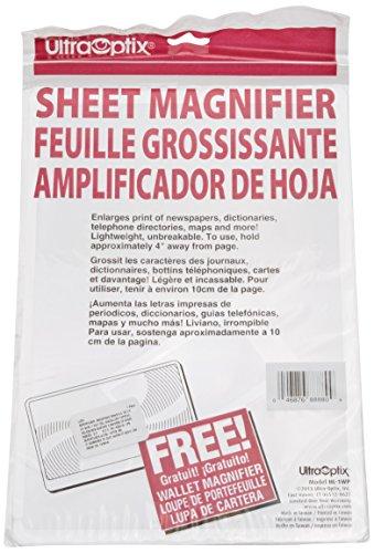 - Ultraoptix HL-1WP Handi-Lens Value Pack, 2x Fresnel Lens Sheet Magnifier