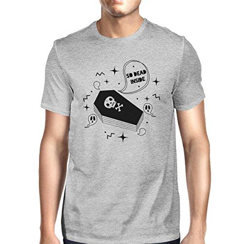 So Dead Inside Gray Printing Coffin hombre de corta Camiseta 365 Size One para manga One PvwZ7q7