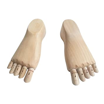 Amazon Com Kukin Wooden Foot Models Drawing Model Socks Display