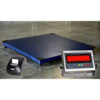Prime Scales 10000lb/1lb 48x48 Floor Scale w/ Stainless Steel Printing Indicator