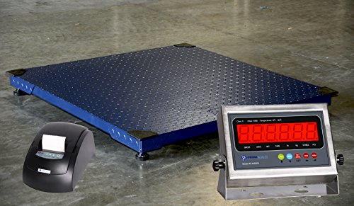 Prime Scales 10000lb/1lb 48x48 Floor Scale w/ Stainless Steel Printing Indicator by Prime Scales