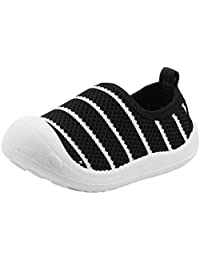 PPXID Baby's Toddler Boy's Girl's Lightweight Mesh Slip-on Loafers Running Sneakers