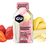 GU Energy Original Sports Nutrition Energy Gel, Strawberry Banana, 24-Count