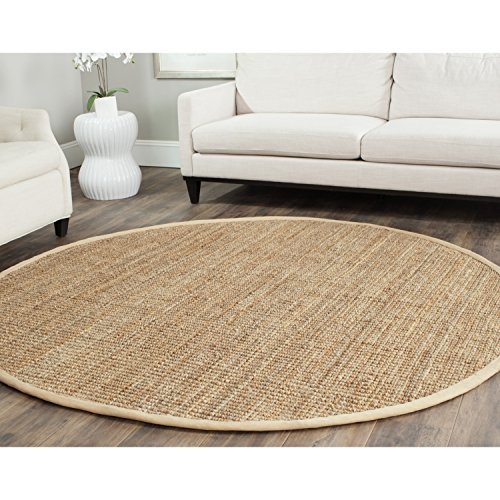 Safavieh Natural Fiber Collection NF730C Hand Woven Natural Jute Round Area Rug (5' ()