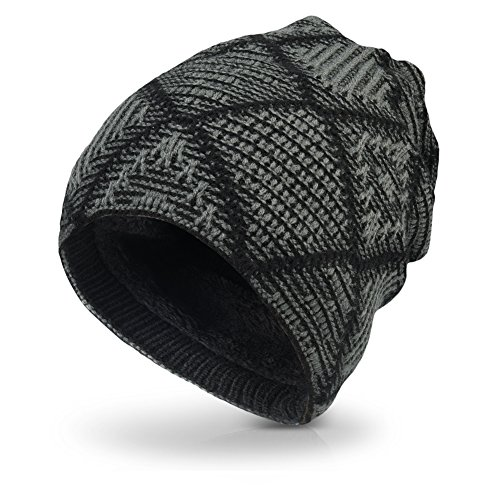 Vbiger Beanie Hat Knit Hat Winter Skull Wool Hat Windproof for Men & Women (Dark (Wool Hat Patterns)