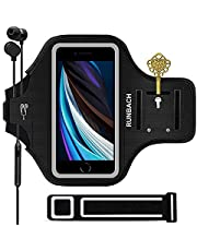 RUNBACH Armband for iPhone X, XS, SE, 8,7,6,Water Resistant Armband Case for Running Exercise Gym Workout (Black)