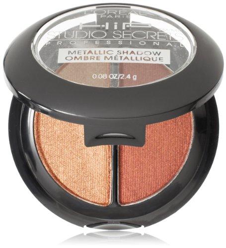 L'Oreal Paris HiP Studio Secrets Professional Metallic Eye Shadow Duos, Charged, 0.08 (Makeup Eye Shadow Duo)