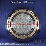 MIGHTY BRIGHT COOL WHITE [6000K] LED LIGHT for Pentair Aqualumin ii Swimming Pool Light Fixture, 6'' Dia. , 120Vac, 17Watts, 4000Lumens, P/N: SPTL420LMC6-PLii-CW