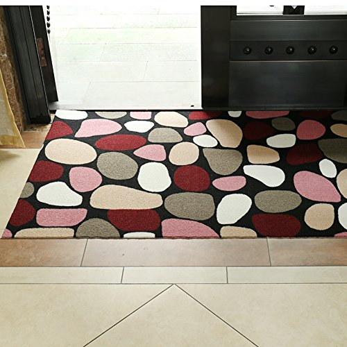 Door mat,Gate pad,Rug,The entrance of the door non-slip mat,Doormat,Ultra-thin,[absorbent],Adjustable foot pads,The door,Lobby waterproof mat-D 80x100cm(31x39inch) ()