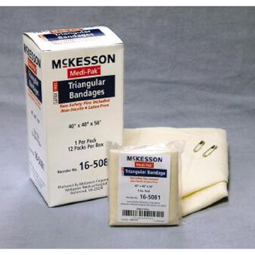 MCK16503001 - Mckesson Brand Triangular Bandage Medi-Pak Muslin 40 X 40 X 56 - Pak Medi Tubing